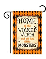 "Wicked Witch Halloween Outdoor Garden Flag 18"" X 13"" from Two Group"