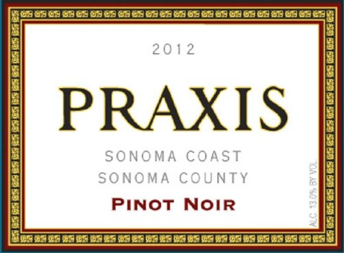 2012 Praxis Sonoma Coast Pinot Noir 750 Ml