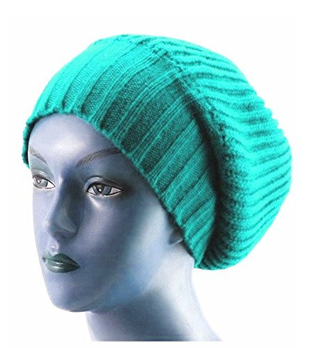 new-unisex-knitted-satin-lined-slouch-beanie-teal-red
