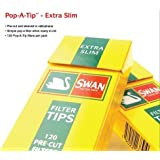 4 Packets Swan Filter Tips (Pre Cut Filter Sticks) Extra Slim [Cigarette - Tobacco Filters]