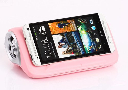 Cidoss® Pink Wireless Magic Speaker Mutual Induction Speaker Interaction Speaker For Mobile Phones Iphone 5 Samsun S3/Note 2
