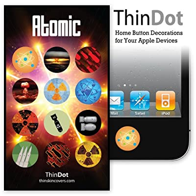 "ThinDot Home Button Stickers for iPhone, iPad and iPod Touch ""Atomic"""