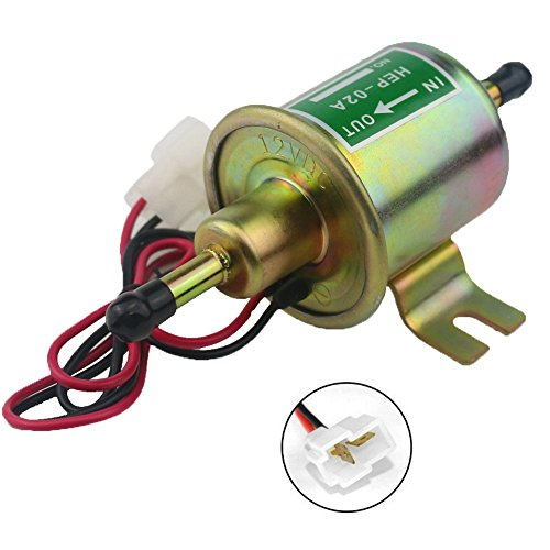 W8sunjs Universal 12V Heavy Duty Electric Fuel Pump Metal Solid Petrol 12 Volts (Electric Oil Pump 12v compare prices)
