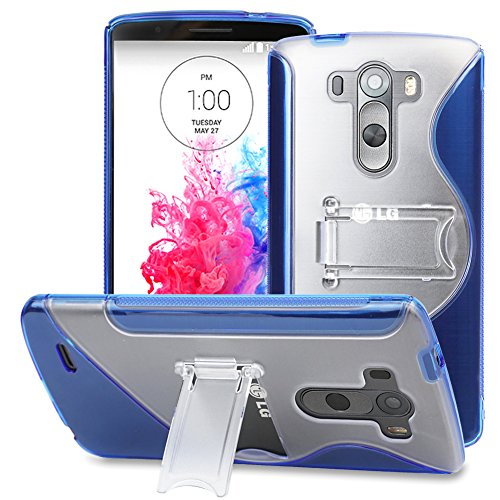 Lg G3 Case, Evecase S-Line Slim Tpu Case With Kick-Stand For Lg G3 4G Lte Smartphone - Blue