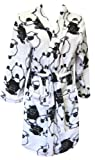 All-Over White and Black Sheep Plush Robe for women