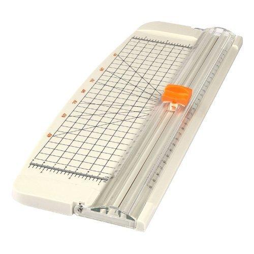 Produktabbildung von LAGUTE AZ-101 A4 Rollenschneider, Papier & Foto Schneidegerät Schneidemaschine Papierschneider, Schnittlänge 320mm, Schneidet bis zu 10 Blattes (70g/sm), Gewicht: 0.5KG Größe: 15*5.5inch *Weiß*