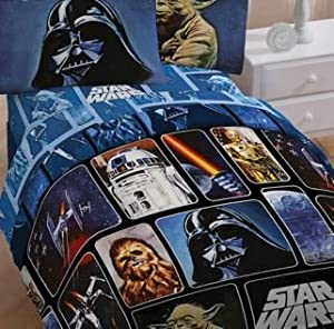 Star Wars Collage 5 Piece Full Size Bed Set