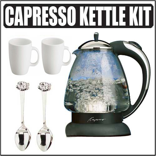 Capresso 259.03 H2O Plus Glass Water Kettle w/ Accessories