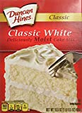 Duncan Hines Cake Mix, Classic White, 16.5 Ounce (Pack of 6)