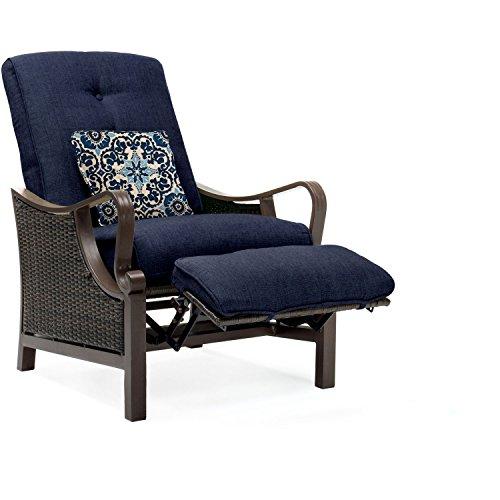 Hanover Outdoor Ventura Outdoor Luxury Recliner Navy Blue Furniture Furnitur