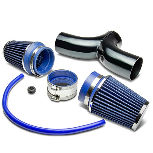 Dodge SUV/Truck Short Ram Cold Air Intake Pipe Kit Set (Black Pipe+Blue Filter)