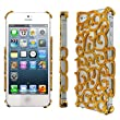 Empire Cute Gold Chrome Vine Overlay Cover / Case / Shell for Apple iPhone 5