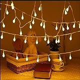 Uping Strisce di Luci LED, Globo, Luce Calda Bianca, 12 Metri, 100 Singoli LED, Decorativa da Interni e Esterni, anche per Festa, Giardino, Natale, Halloween, Matrimonio