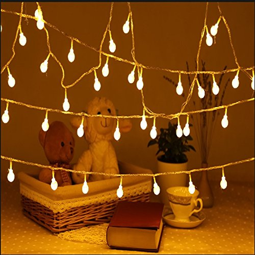 Uping strisce di luci led globo luce calda bianca 12 - Luci a batteria per esterni ...