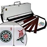 American Mahjong Set Aluminum Case ''Elemental'' with Pusher Racks