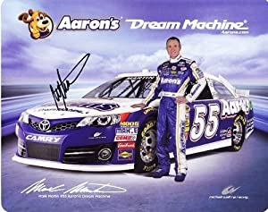 2013 Mark Martin #55 Aarons Dream Machine (MWR) 8X10 NASCAR Hero Card *AUTOGRAPHED* by Trackside Autographs