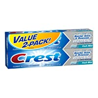 Crest Baking Soda And Peroxide Toothpaste With Tartar Control - Fresh Mint Twin Pack 12.8 Oz, (Pack of 3)