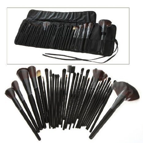 Generic 32 PCS Makeup Brush Set + Black Pouch Bag Science Purchaseng Strips