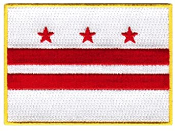 Washington DC State Flag Embroidered Patch Iron-On District of Columbia Emblem
