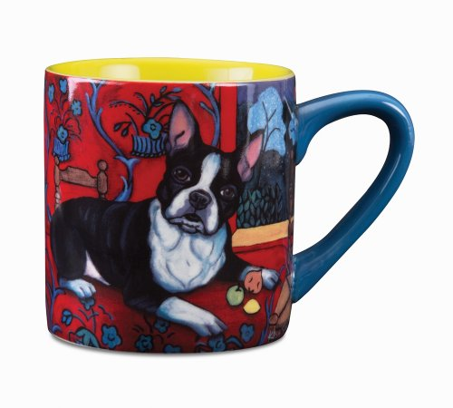 Paw Palettes Boston Terrier Muttisse Ceramic Mug, 16-Ounce front-427716