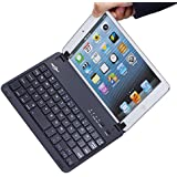 BATTOP Ultra-Uhin Bluetooth Keyboard Case Cover With Stand for IPad Mini 3 / IPad Mini 2 /IPad Mini - Auto Wake / Sleep Feature(Close To Sleep , Open To Wake Up) - Black