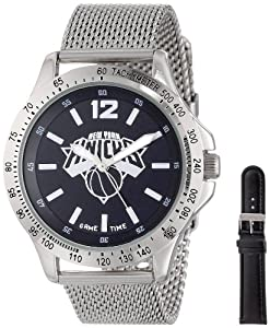 Game Time Mens NBA-CAG-NY Cage NBA Series New York Knicks 3-Hand Analog Watch by Game Time