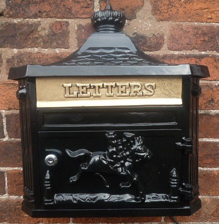 Black Wall Mounted Post Box