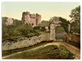 Photographic Print of Victorian Photochrom Carisbrocke (, Carisbrooke), the castle, Isle of Wight, England