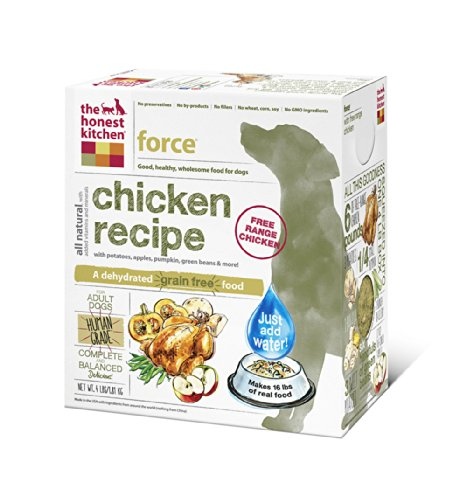 The Honest Kitchen Force: Grain Free Chicken Dog Food, 4 Lb