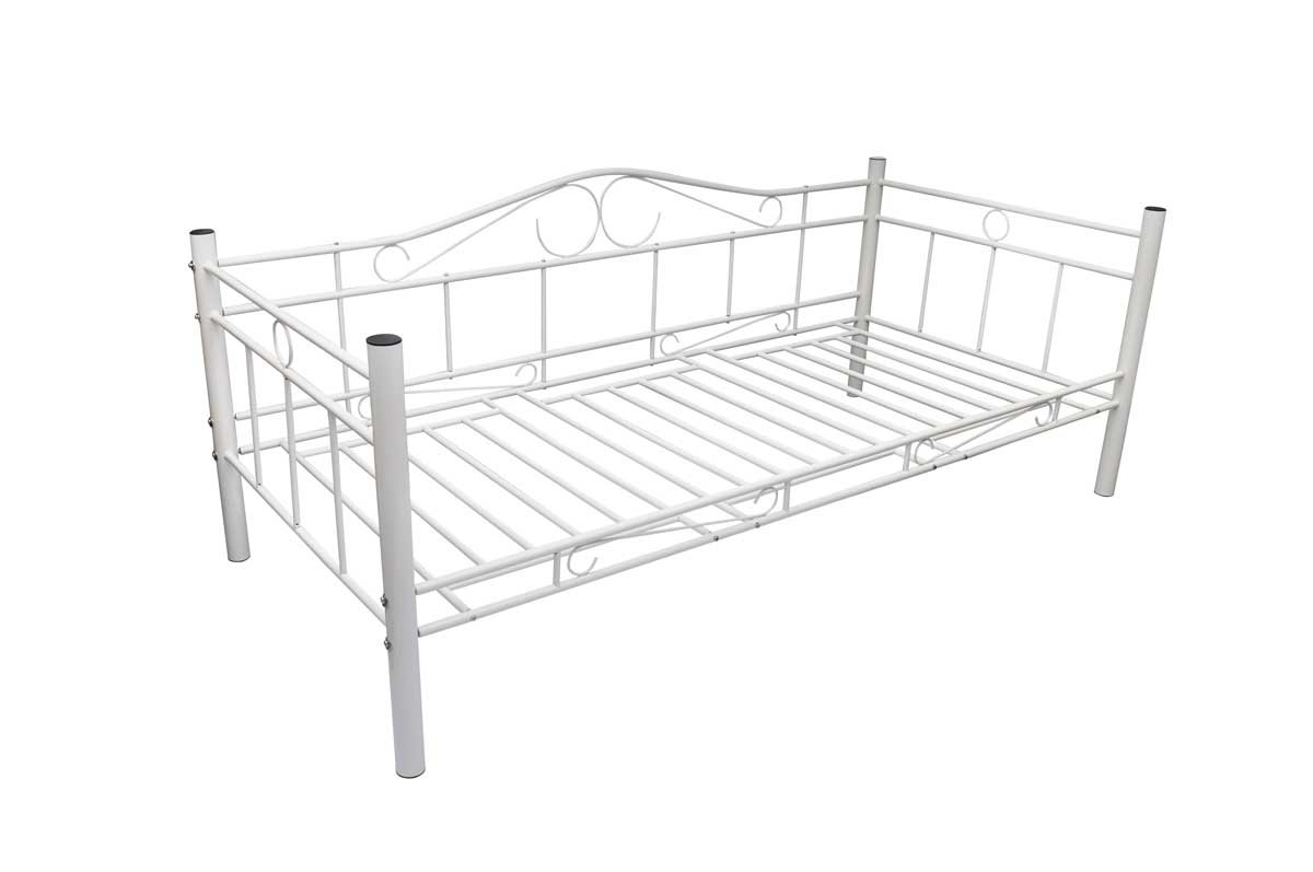 Tagesbett Einzelbett mit Matratze 90 x 200 cm Metallbett Bettgestell Bett Sofa  Überprüfung und Beschreibung