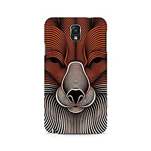 Mobicture Line Wolf Premium Printed Case For Samsung Note 3 N9006