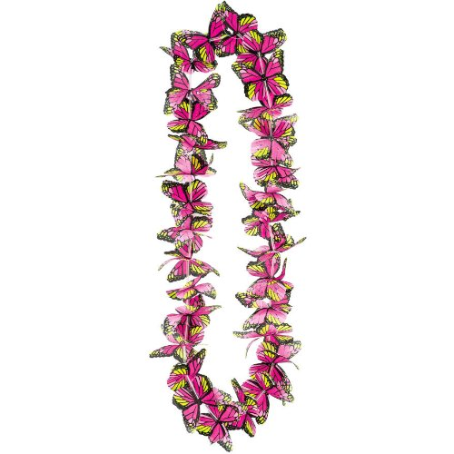 "20"" Butterfly Aloha Lei-1 piece (Pink)"