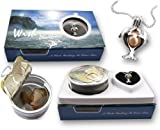 Great Graduation Gift Genuine Wish Pearl Twin Dolphins Cage & Necklace 18k Gp