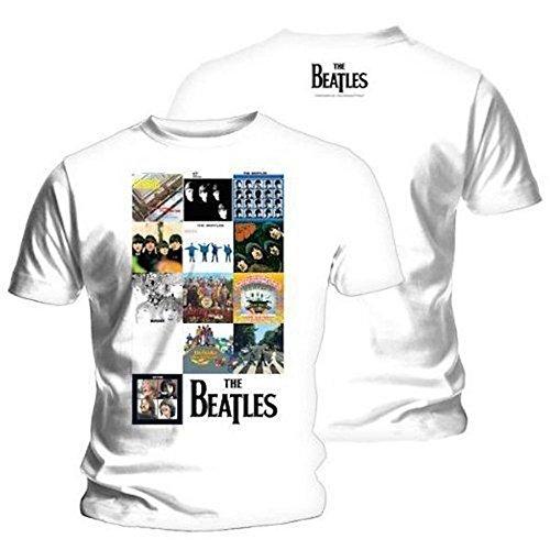 THE-BEATLES-rejilla-Producto-oficial-de-para-hombre-T-camiseta-de-manga-corta