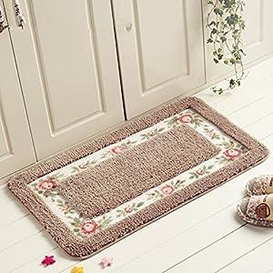 Fatacy Rectangle Rose Floral Rug Carpet For Dinning Room Rug Bedroom Rug Bathroom