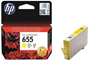 Hp 655 Yellow Ink Advantage Cartridge for Hp Deskjet 3525, 4615, 4625, 5525, 6525