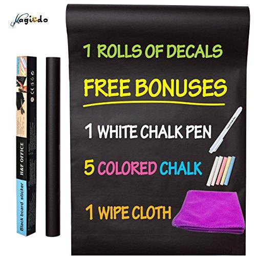 Magicdo Chalkboard Wall Sticker, Large Chalkboard Decal Blackboard sticker, 45 x 200cm, 18