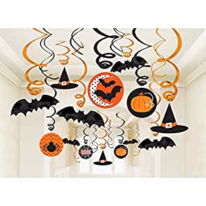 Shindigz 30 Piece Halloween Decoration Halloween Swirls Mega Value Pack