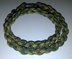Paracord Survival Necklace Forest Camo (Small 18 inches)