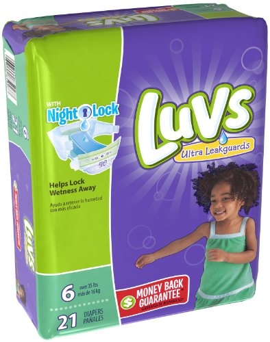 Luvs Ulta Leakguards Diapers Night Lock 6 - 21 CT