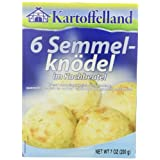 Kartoffelland 6 Semmel-Knodel (6 Bread Dumplings in Cooking Bags), 7-Ounce Boxes (Pack of... by Kartoffelland
