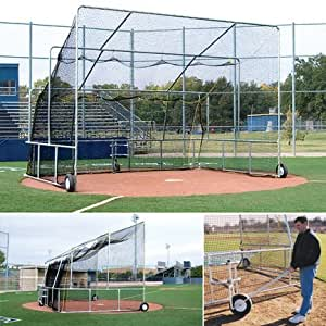 Amazon Com Bsn Portable Batting Cage Indoor Baseball