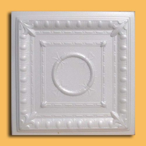 Ancona White (Foam) Ceiling Tile - Decorative Ceiling Tile Easy Glue up DIY