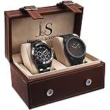 Joshua & Sons JS7301 Men's 2 Watch Box Set