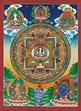 """Great Compassionate One"" HUGE Mandala thangka Asian art"