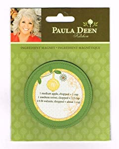"INGREDIENT REFRIGERATOR MAGNET, Paula Deen Kitchen ""Get Cookin' Y'all"""
