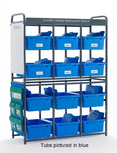 Copernicus LLS300-M Leveled Literacy System- Lesson Storage Organizer- Mixed Tubs