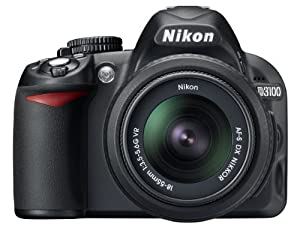 Nikon D3100 Digital SLR Camera with 18-55mm VR Lens Kit (14.2MP) 3 inch LCD