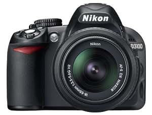 Nikon D3100 Appareil photo numérique Reflex 14.2 Kit Objectif VR 18-55 mm Noir