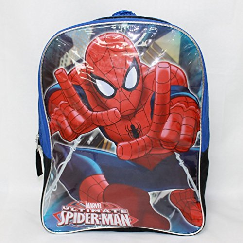 "Spiderman 15"" Boys Backpack- Spider Man front-892198"